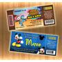 Invitaciones Cumpleaños Ticket Infantiles Personalizada Foto
