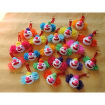 Pack X 10 Payasos Tejidos A Crochet Llaveros Ideal Souvenirs