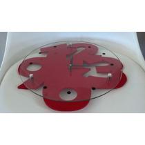 Reloj Moderno Rojo De Pared