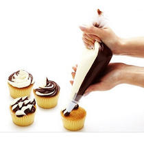 Set De 10 Mangas Dobles Para Reposteria Decoracion Cupcake