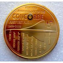 Tristan Da Cunha 2009 £5 Concorde Proof Con Oro 24 Kilates
