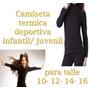 Camiseta Termica Deportiva Infantil / Juvenil Para Deportes