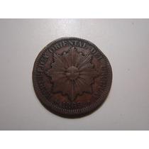 Moneda De Uruguay 4 Centésimos 1869 Cobre Mirala!