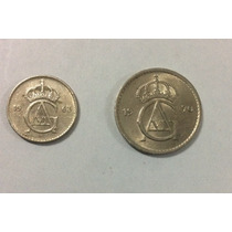 Monedas Suecia 25 Y 50 Ore