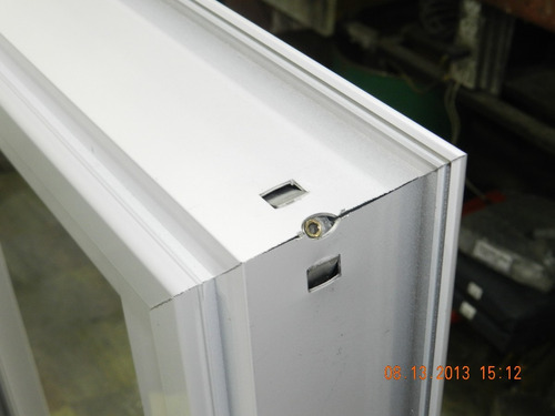 Ventana aluminio linea rotonda con vidrio 4mm for Cotizacion aluminio argentina