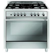 Cocina Glem 90 X 60 Mqb6129i 5 Hornallas Gas + Horno Eléct.