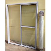 Puerta Ventana Balcon Aluminio Con Cortina Pvc Ref. 150x200