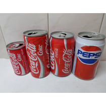 Latas Coca Cola Pepsi Antiguas Lote X 4