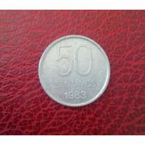 Moneda De 50 Centavos Argentinos 1983