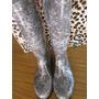 Botas De Lluvia, Altas, Gris Leopardo Nº 36