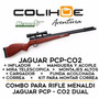 Rifle Pcp Menaldi Jaguar + Inflador + Mira + Accesorios
