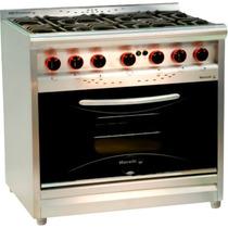 Cocina 6 Hornallas 900 P/vidrio Mod. Premium