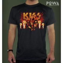 Remera Hombre Kiss 100% Algodón Premium - Powa