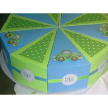 Torta De Cajitas, Cajitas En Forma De Porción De Torta