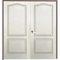 Puerta Doble Hoja Craftmaster Blanca Marco Madera 160x200 Cm
