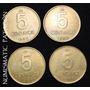 Colección 5 Centavos De Austral 1985/86/87/88 - Muy Buenas