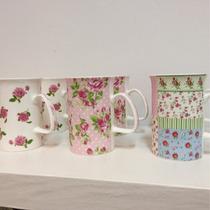 Tazas De Porcelana Estampadas Shabby Chic