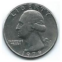 Moneda De Ee Uu 1/4 Dolar 1979 (d) Muy Buena
