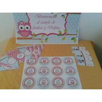 Kit De Cumpleaños, Banderin, Invitacion, Stickers Y Cartel