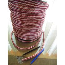 Soga Cuerda Trenzada Politileno 8 Mm Blanca Y Roja
