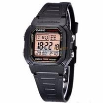 Reloj Casio W-800 Pila 10 Años 100m Resiste Al Agua Alarmas