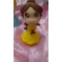 Princesita Estilo Chibi Central Torta En Porcelana Fria