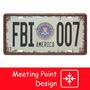 Patentes Decorativas Vintage De Chapa - Fbi 007