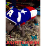 Disfraz Capitán América 40 Cm Bull Dog Francés Moron Julypes