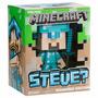 Minecraft Steve Muñeco Con Espada Prende Luz!