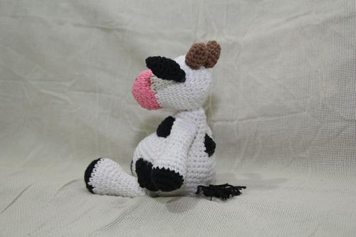Vaca Tejida A Crochet Amigurumi Artesanal Hermosa Regalo ...