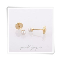 Aro Abridor Oro 18k - Perlas Cultivadas 4mm