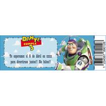 Invitaciones Personalizadas Tarjetas Ticket Toystory Callie