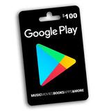 Tarjeta Google Play U$100 Usa   Entrega Inmediata - G24