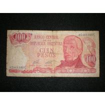 Billete 100 Pesos Banco Central Republica Argentina Serie C