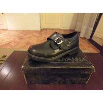 Zapatos Escolares De Cuero