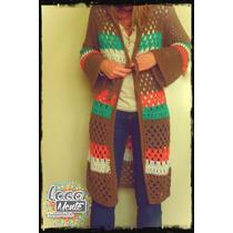 Sacon Tejido Al Crochet Locamente Indumentaria