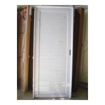 Puerta Aluminio Exterior Ciega 80x200 Doble Perno