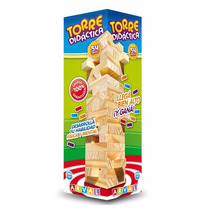 Jenga Jng Torre Didáctica Juego De Equilibrio Madera Arval