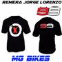 Remera Yamaha Jorge Lorenzo 99 Unicamente En Mg Bikes