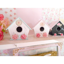 Mini Casitas Souvenirs Pájaros Shabby Chic Deco Candy Bar