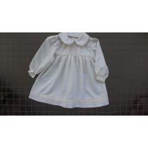 Vestidos De Viyela Natural Para Bebas -primeras Medidas-