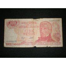 Billete 100 Pesos Banco Central Republica Argentina Serie D