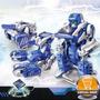 Juguete Solar 3en1 P/armar Robot Transformer Drone Original