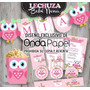 Kit Imprimible Lechuza Buho Primer Añito Baby Shower Candy