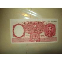 Billete 10 Pesos Moneda Nacional Serie D Y G X3