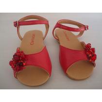 Sandalias Rojo Tomate Para Nenas - Zapatos De Diseño