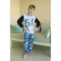 Pijama De Varón Invierno Camuflado Desde El Talle 2 Al 14
