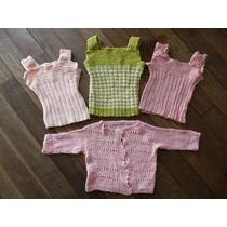 Lote Tres Chalecos Crochet Bebe + Saquito Hilo Perfectos