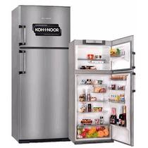 Heladera Kohinoor Con Freezer 416 L Acero Inox Kda 4394/6