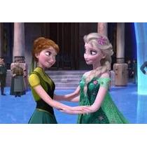 Disfraz Elsa Frozen Celebración Verde Envios A Todo El País